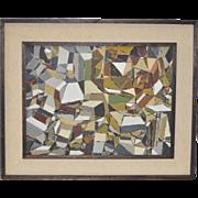 Eugene Peart Bennett (1921-2010) Geometric Abstract Oil Painting c.1961