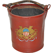 19th Century Painted Leather Fire Bucket