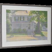 "Robert Sweeney Original ""Country Home"" Pastel Painting c.1987"