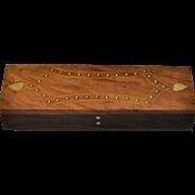 Wood Box w/ Brass Inlay