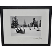Surreal Black and White Winter Landscape Photograph Signed