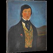 Early 19th C. American Male Oil Portrait