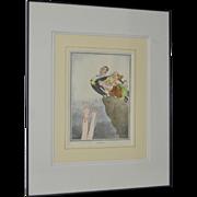 """The Bachelor"" Framed Print by HM Bateman"