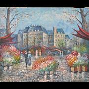 Parisian Flower Market Painting