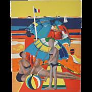 Rene Couturier Color Lithograph c.1977