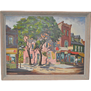 """Clifford Homes """"Queen Street"""" Original Oil Painting c.1947"""