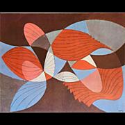 "Herbert Bayer (BAUHAUS) Lithograph ""Composite Structure"" c.1965"