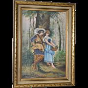19th Century Romance Oil Painting