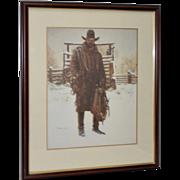James Bama Vintage Cowboy Print c.1989