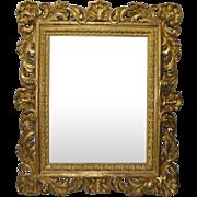 Monumental 19th Century Hand Carved Gilded Frame