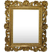 Monumental 19th Century Hand Carved Gilded Frame