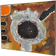 Mid Modern Abstract Oil Painting by Jack Foote