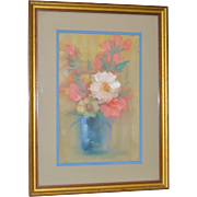 Leon Dolice Original Floral Still Life c.1950s