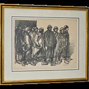 """Theophile Alexandre Steinlen """"A bientôt pour bon!"""" Lithograph c.1915"""