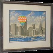 "Patrick Kelly ""Way To Go' San Francisco"" Color Lithograph c.1981"