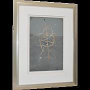 "Theodora Varnay Jones ""On the Surface #87"" Signed Print c.1990s"