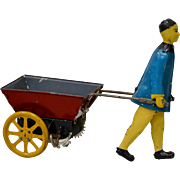 Carter's Toys - Chinese Man w/ Cart Lithographed Tin Toy c.1920s