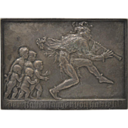 The Pied Piper of Hameln by Karl Perl Bronze Medallion c.1900