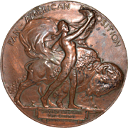 Pan-American Exposition Bronze Medal by Hermon A. MacNeil c.1901
