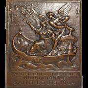 St. Louis Exposition Bronze Plaque by Louis-Aleandre Bottee c.1904