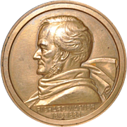Vintage French Bronze Medallion of Richard Wagner by Lucien Bazor