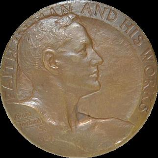 National Bank of Portland Oregon Bronze Medal by Avard Fairbanks c.1929