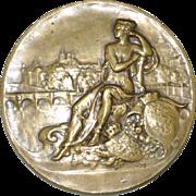 """Henry Nocq """"Banque De Paris"""" 50th Anniversary Bronze Medallion c.1922"""