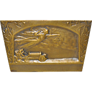 Alexandre Pierre Morlon (1878-1951) French Bronze Plaque c.1910