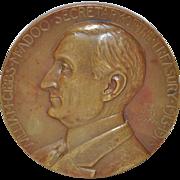 Secretary of Treasury William Gibbs McAdoo Bronze Medallion c.1919
