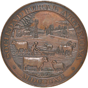 International Exhibition of Livestock & Agriculture Buenos Aires Bronze Medal c.1890