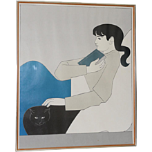 "Will Barnet ""The Book"" Vintage Lithogrpah c.1975"