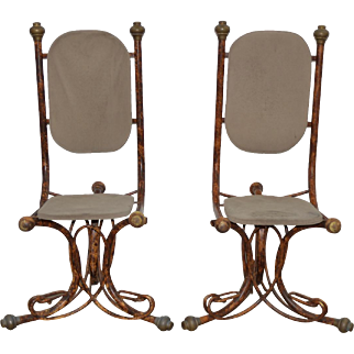 Pair of Arthur Court Sculptural Side Chairs c.1970s