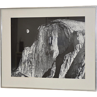 Robert Werling Half Dome Yosemite California Black & White Silver Gelatin Photograph