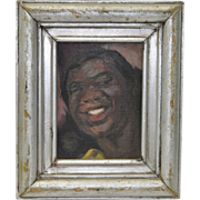 "Geneve Rixford Sargent Oil Painting ""Dinah Washington"" c.1950"