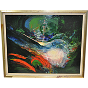 1960's Acrylic Abstract by Ruth Silnes