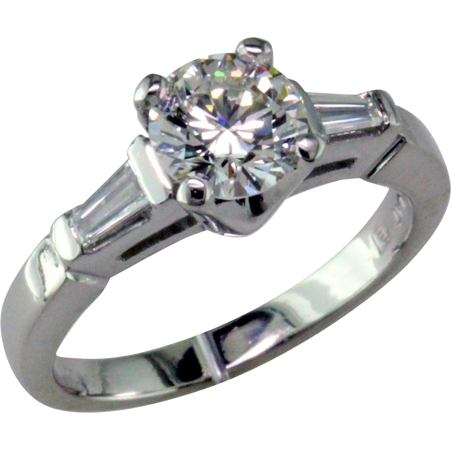 classic 1 ct platinum engagement ring from