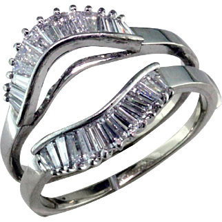 Baguette Diamond 14 Karat Ring Guard