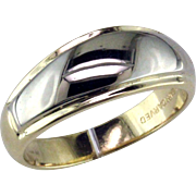 Man's Two Tone Tapered Wedding Ring by ArtCarved