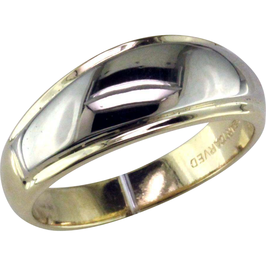 Man S Two Tone Tapered Wedding Ring By Artcarved From