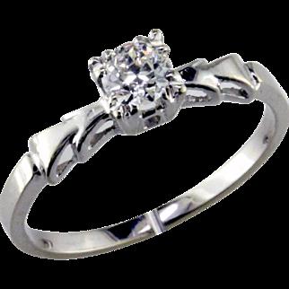 Art Deco Diamond 14K Engagement Ring