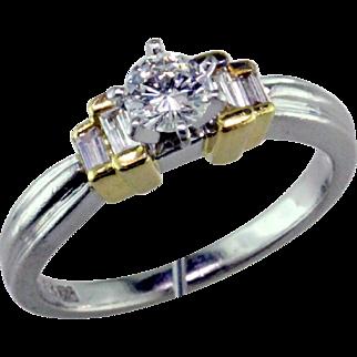 Platinum & 18K Engagement Ring