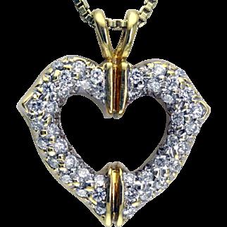Cartier Diamond & 18 Karat Gold Heart Pendant