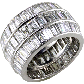 Big Baguette Diamond Platinum Eternity ring
