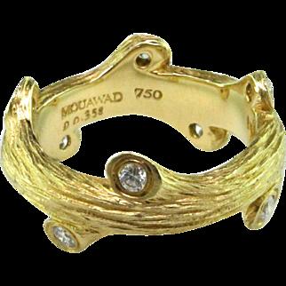 "Mouawad ""Aspen"" Diamond & 18 Karat Ring"