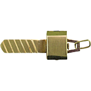 Mid Century Modern 14K Gold Key Watch by LeCoultre