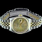 Rolex DateJust 14 Karat & Stainless Steel Wristwatch