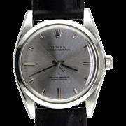 Mid Century Modern Rolex 1018 Stainless Steel Wrist Watch