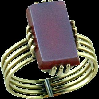 Victorian Sardonyx 14 Karat Gold Ring