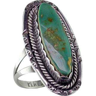 Royston Turquoise & Sterling Silver Ring by Platero-Ine