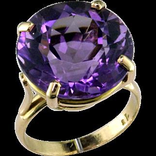 Amethyst & 18 Karat Ring
